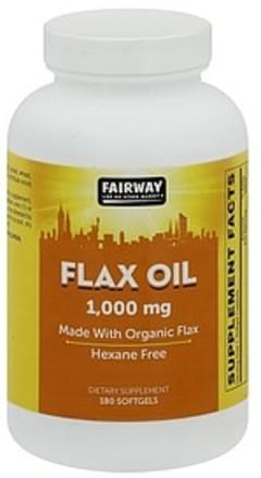 Fairway Flax Oil 1000 mg, Softgels