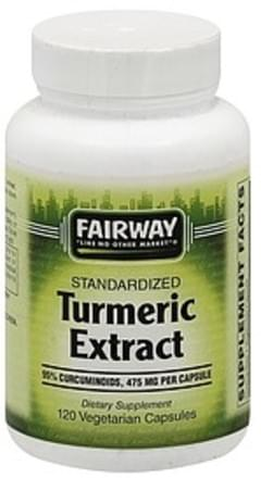 Fairway Turmeric Extract Standardized, 475 mg, Vegetarian Capsules