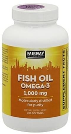 Fairway Fish Oil Omega-3, 1,000 mg, Softgels