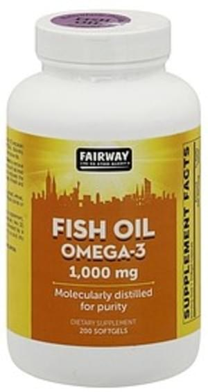 Fairway Omega-3, 1,000 mg, Softgels Fish Oil - 200 ea