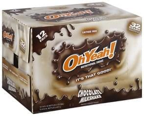 Oh Yeah Nutritional Shake Chocolate Milkshake
