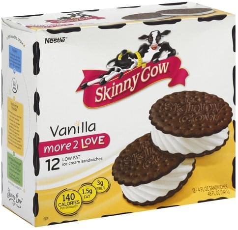 Skinny Cow Low Fat, Vanilla Ice Cream