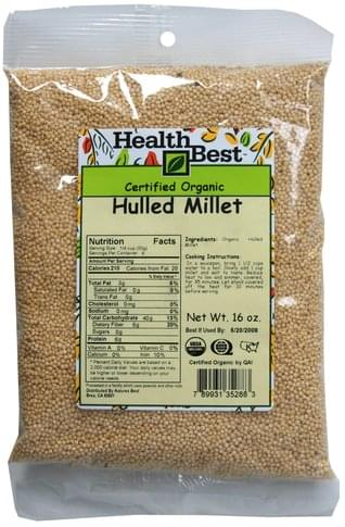 Health Best Hulled Millet - 16 oz