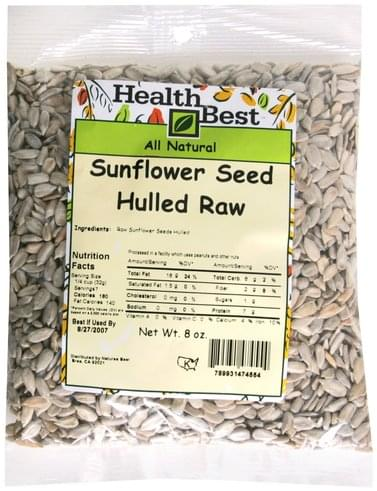Health Best Hulled Raw Sunflower Seed