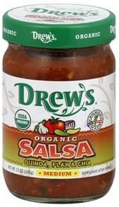 Drews Salsa Organic, Medium, Quinoa, Flax & Chia