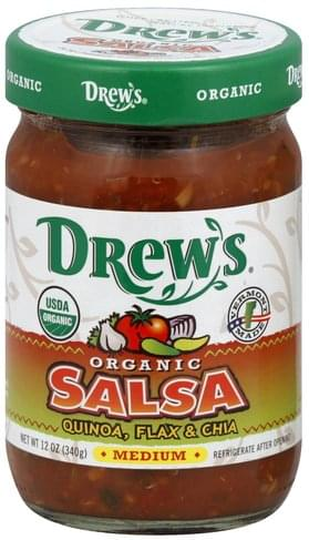 Drews Organic, Medium, Quinoa, Flax & Chia Salsa - 12 oz