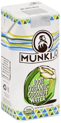 Munkijo 100% Organic Coconut Water - 11.2 oz