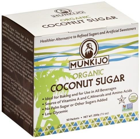 Munkijo Organic Coconut Sugar - 50 ea
