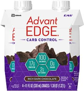 EAS Advantedge EAS Advantedge Carb Control Rich Dark Chocolate Shakes Advantedge Carb Control Rich Dark Chocolate