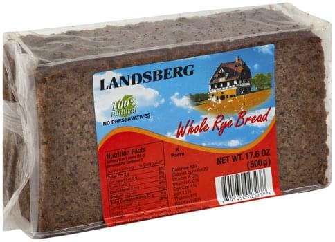 Landsberg Whole Rye Bread - 17.6 oz