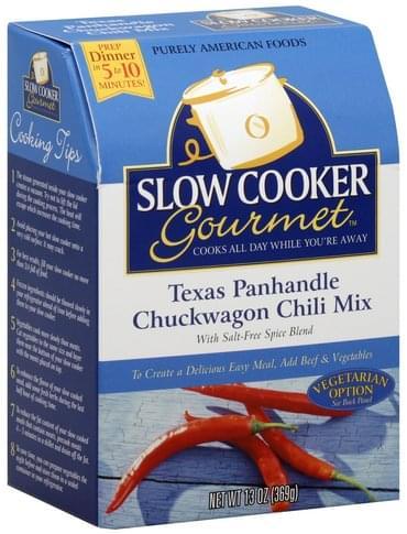 Slow Cooker Gourmet Texas Panhandle Chuckwagon Chili Mix - 13 oz