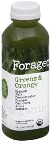 Forager Juice Blend Organic Vegetable, Greens & Orange