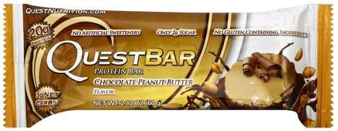 Quest Bar Chocolate Peanut Butter Flavor Protein Bar - 2.12 oz