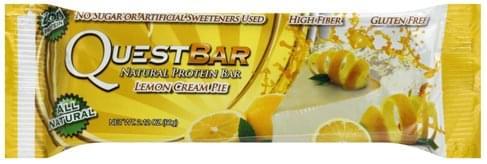 Quest Bar Natural, Lemon Cream Pie Protein Bar - 2.12 oz