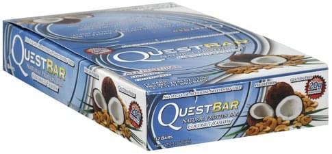 Quest Bar Natural, Coconut Cashew Protein Bars - 12 ea