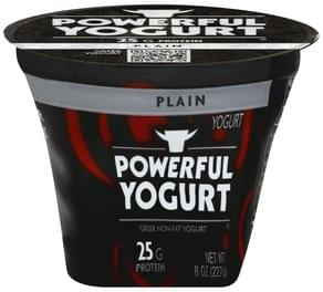 Powerful Yogurt Yogurt Greek, Non-Fat, Plain