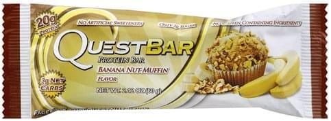 Quest Bar Banana Nut Muffin Flavor Protein Bar - 2.12 oz