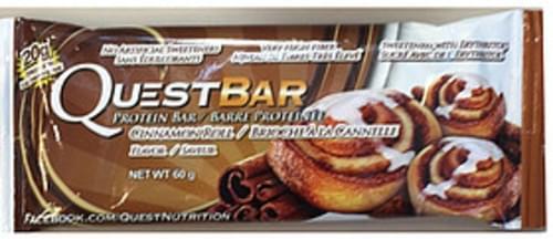 Quest Bar Cinnamon Roll Protein Bar - 60 g