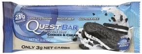 Quest Bar Protein Bar Cookies & Cream Flavor