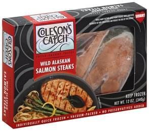 Colesons Catch Steaks Wild Alaskan, Salmon