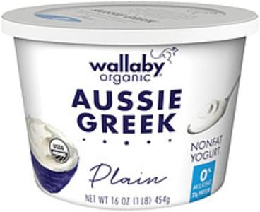 Wallaby Yogurt Organic Aussie Greek Plain Nonfat
