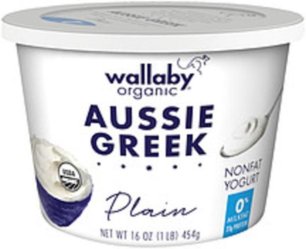 Wallaby Organic Aussie Greek Plain Nonfat Yogurt - 16 oz