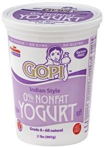 Gopi Yogurt Nonfat, Indian Style