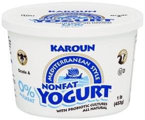 Karoun Yogurt Nonfat, Mediterranean Style