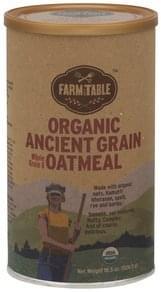 Farm To Table Whole Grain & Oatmeal Organic Ancient Grain