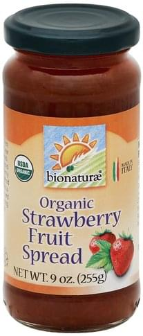Bionaturae Organic, Strawberry Fruit Spread - 9 oz
