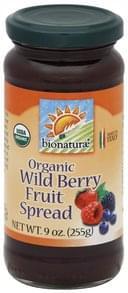 Bionaturae Fruit Spread Organic, Wild Berry