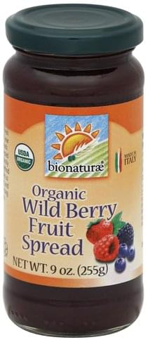 Bionaturae Organic, Wild Berry Fruit Spread - 9 oz