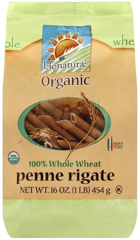 Bionaturae 100% Whole Wheat Penne Rigate - 16 oz