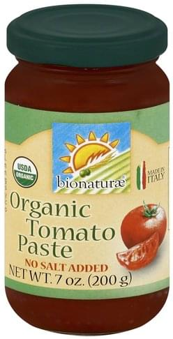 Bionaturae Organic Tomato Paste - 7 oz