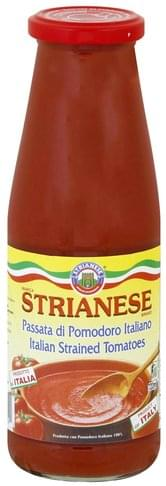 Strianese Italian, Strained Tomatoes - 24 oz