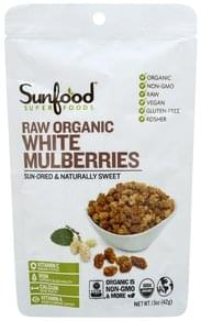 Sunfood Superfoods White Mulberries Organic, Raw
