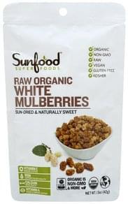 SunFood Superfoods White Mulberries Organic, Raw