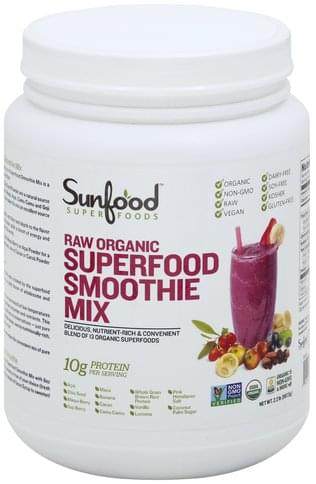 Super Foods Raw Organic, Superfood Smoothie Mix - 2.2 lb