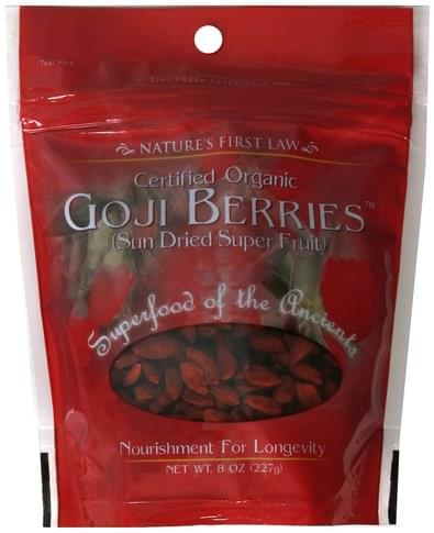 Natures First Law Certified Organic Goji Berries - 8 oz