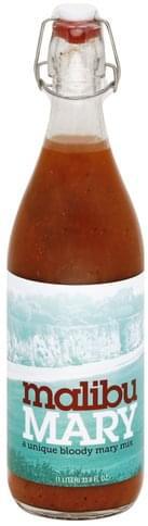 MalibuMary Bloody Mary Mix - 33.8 oz
