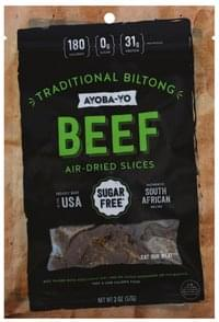 Ayoba Yo Beef Air-Dried, Traditional Biltong, Slices