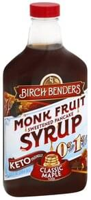 Birch Benders Monk Fruit Syrup Classic Maple Flavor