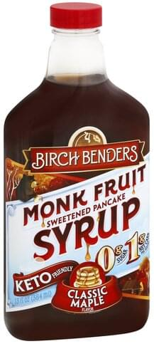 Birch Benders Classic Maple Flavor Monk Fruit Syrup - 13 oz