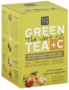 Sencha Naturals Drink Mix Effervescent, Green Tea + C, Citrus Ginger