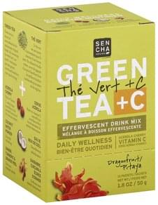 Sencha Naturals Drink Mix Effervescent, Green Tea + C, Dragonfruit