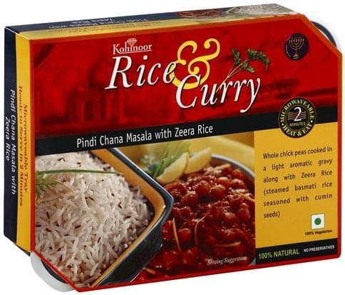 Kohinoor with Zeera Rice Pindi Chana Masala - 12.3 oz