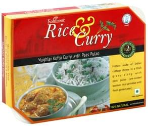 Kohinoor Rice & Curry Mughlai Kofta Curry with Peas Pulao