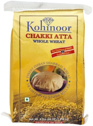Kohinoor Chakki Atta Whole Wheat - 64 oz