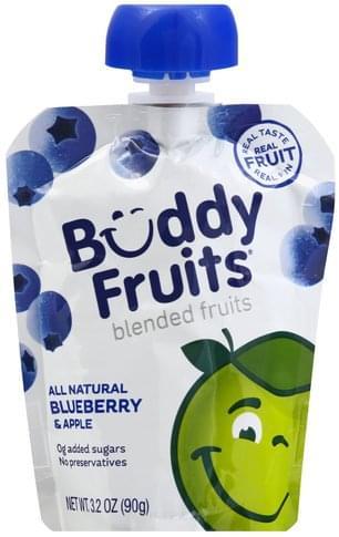 Buddy Fruits Blueberry & Apple Blended Fruits - 3.2 oz