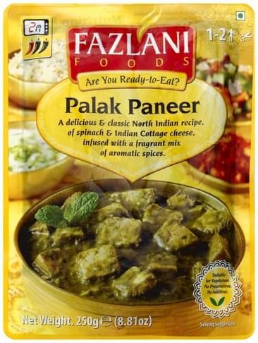 Fazlani Foods Palak Paneer - 8.81 oz